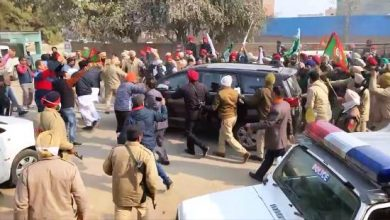 Punjab BJP chief's car attacked by agitating farmers in Ferozepur